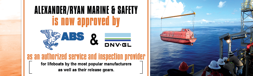 Alexander/Ryan Marine & Safety: Service & inspection of lifeboats & release gears from various manufacturers