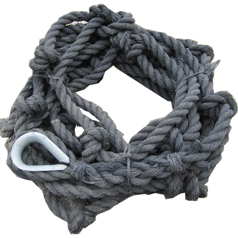 "[20865] Escape & Knotted Rope, 1 1/4"" Poly pro, knots2' apart image"