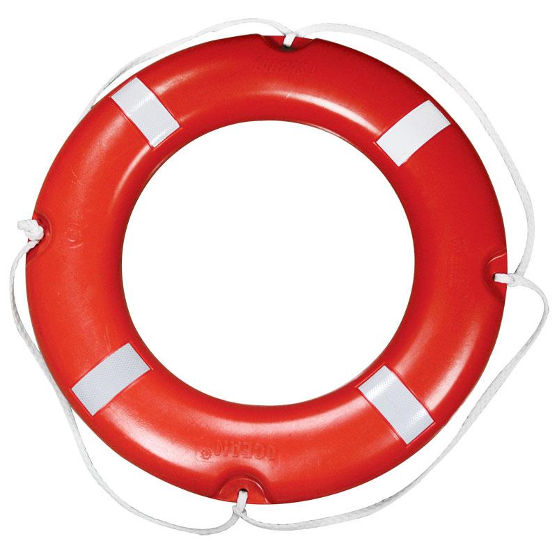 [70090] LALIZAS Lifebuoy Ring SOLAS, w/Reflect.Tape, Ø73cm, 2.5Kg image