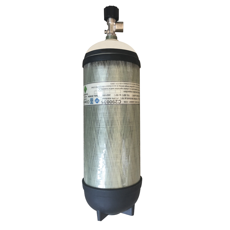 [02303] Spare compressed air cylinder ,9lt+ Valve 300bar assembled, with air image