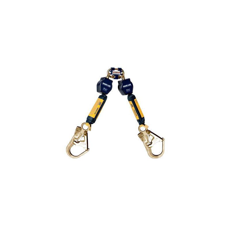 [20881] 3M™ DBI-SALA® Nano-Lok™ Twin-Leg Quick Connect Self Retracting Lifeline, Web 3101280, 6 ft. (1.8 m) image
