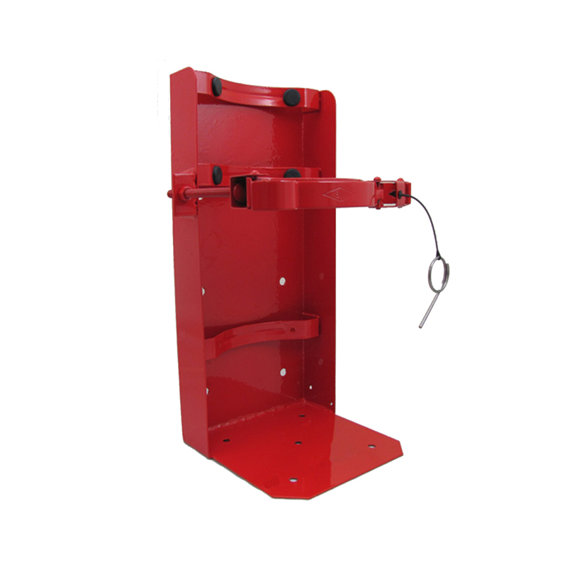 [21069] Amerex Brackets (Galvanized & Painted Red) W/Locking Pin, Heavy Duty (30LB), Model 811G image