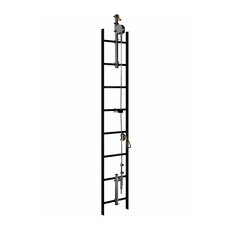 3M™ DBI-SALA® Lad-Saf™ Cable Vertical Safety System Bracketry, 2 User, Stainless Steel image
