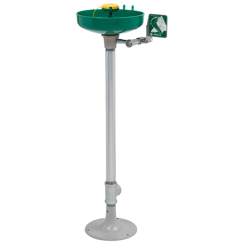 ABS Plastic Bowl, Eye/Face wash series AXION® MSR pedestal mounted with   oor   ange image