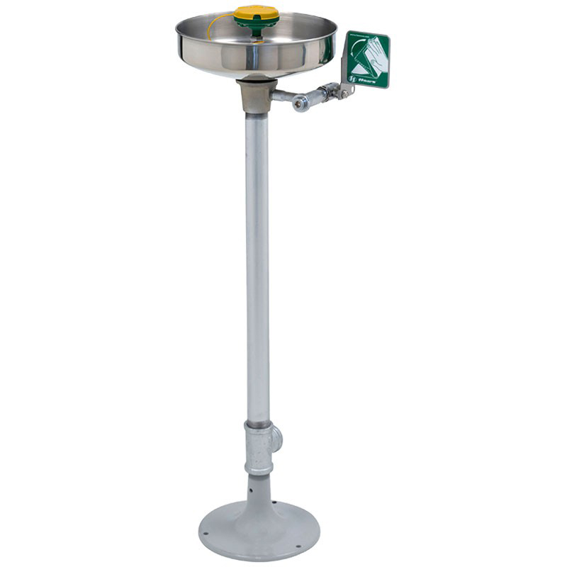 Stainless Steel Bowl Eye/face wash series AXION® MSR pedestal mounted with   oor   ange image