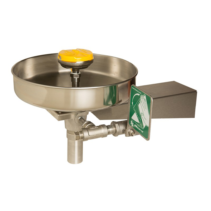 All Stainless Steel Bowl Eye/Face Wash Series  AXION® MSR wall-mounted with bracket, all stainless steel eye/face wash image