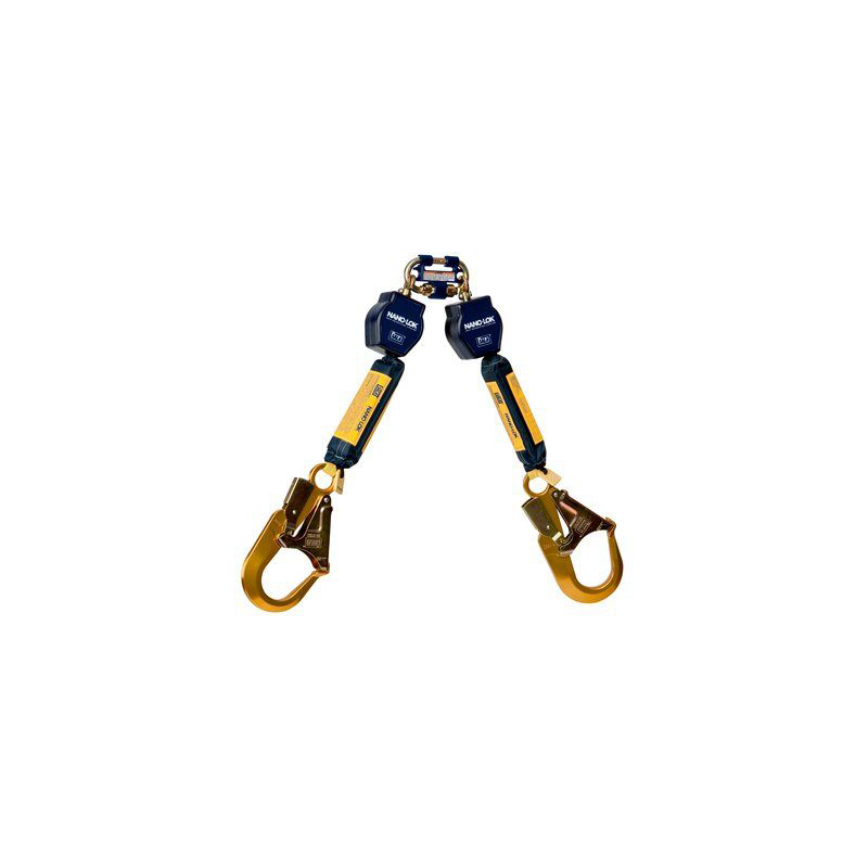 3M™ DBI-SALA® Nano-Lok™ Twin-Leg Quick Connect Self Retracting Lifeline, Web 3101277, 6 ft. (1.8 m) image