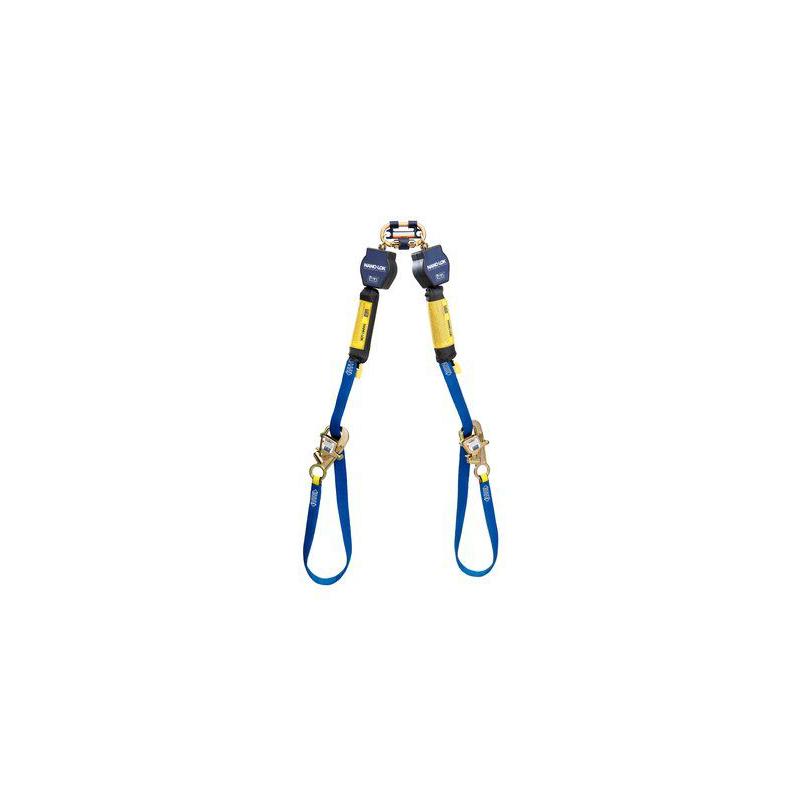 3M™ DBI-SALA® Nano-Lok™ Tie-Back Twin-Leg Quick Connect Self Retracting Lifeline, Web 3101374, 9 ft. (2.7m) image