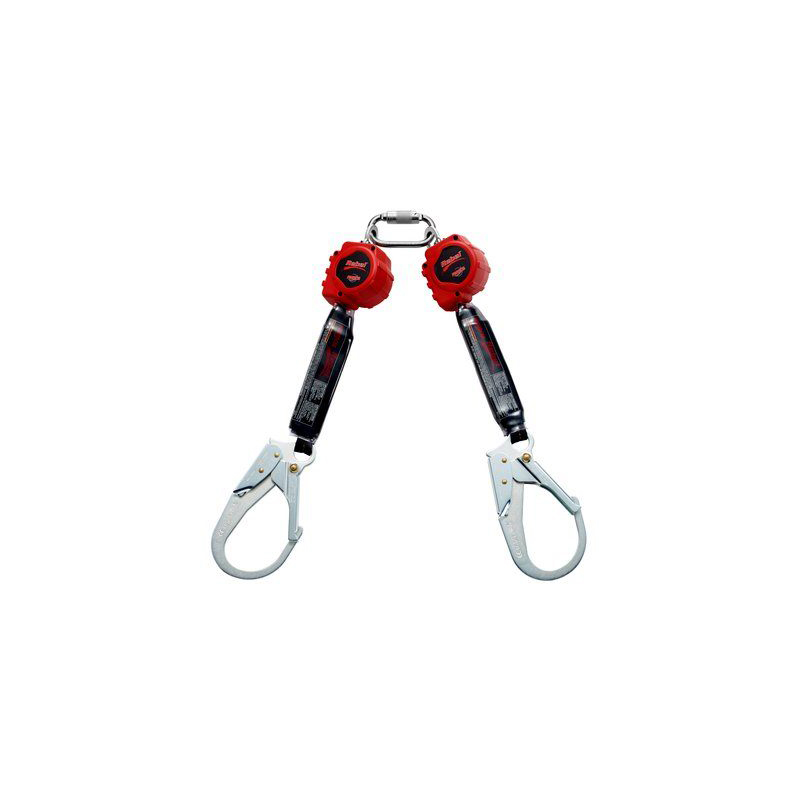 3M™ PROTECTA® Rebel™ Twin-Leg Self Retracting Lifeline - Web 3100414, Red, 6 ft. (1.8 m), 1 EA/Case image