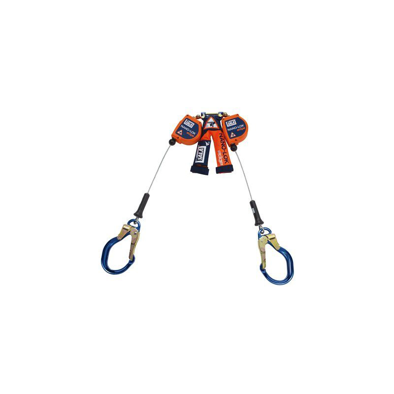 3M™ DBI-SALA® Nano-Lok™ edge Twin-Leg Quick Connect Self Retracting Lifeline, Cable 3500231, 8 ft. (2.4m), 1 EA image