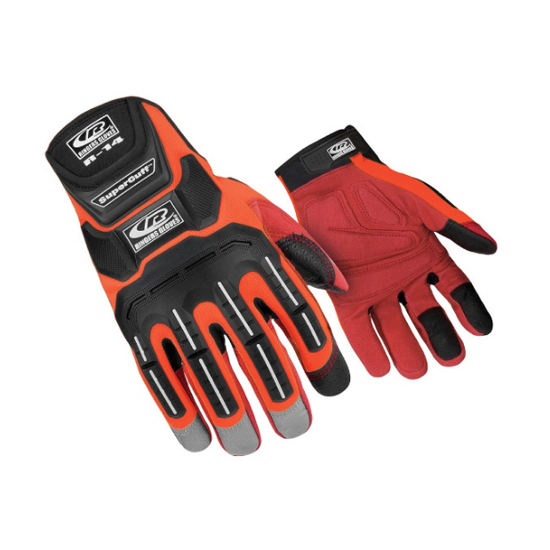 R-14 Impact Glove Orange Touch image