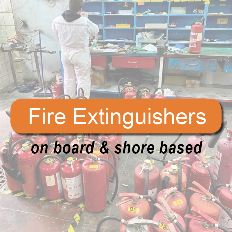 Fire extinguishers - on board & shore based image