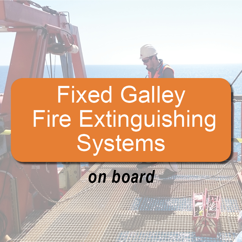 Fixed galley fire extinguishing systems - on board image