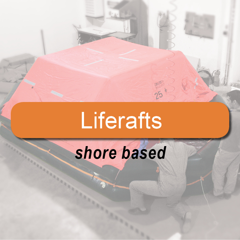 Liferafts - shore based image