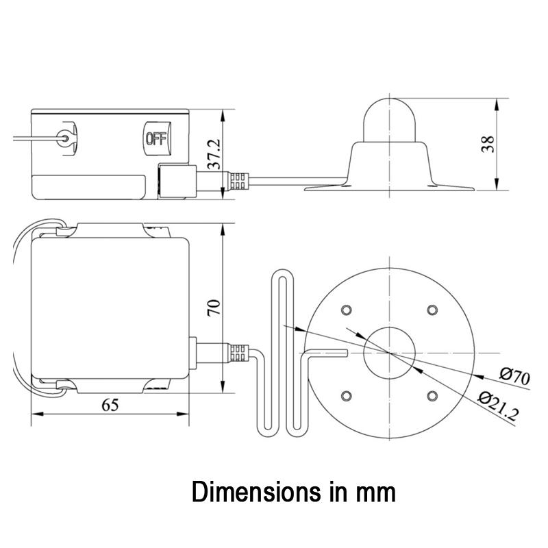 LALIZAS LRL External & Internal Liferaft Light, SOLAS/MED/USCG thumb image 1