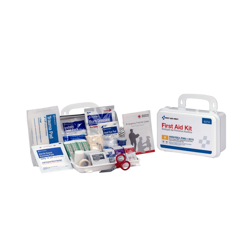 First Aid Only, Bulk Plastic First Aid Kit, 10 Person image