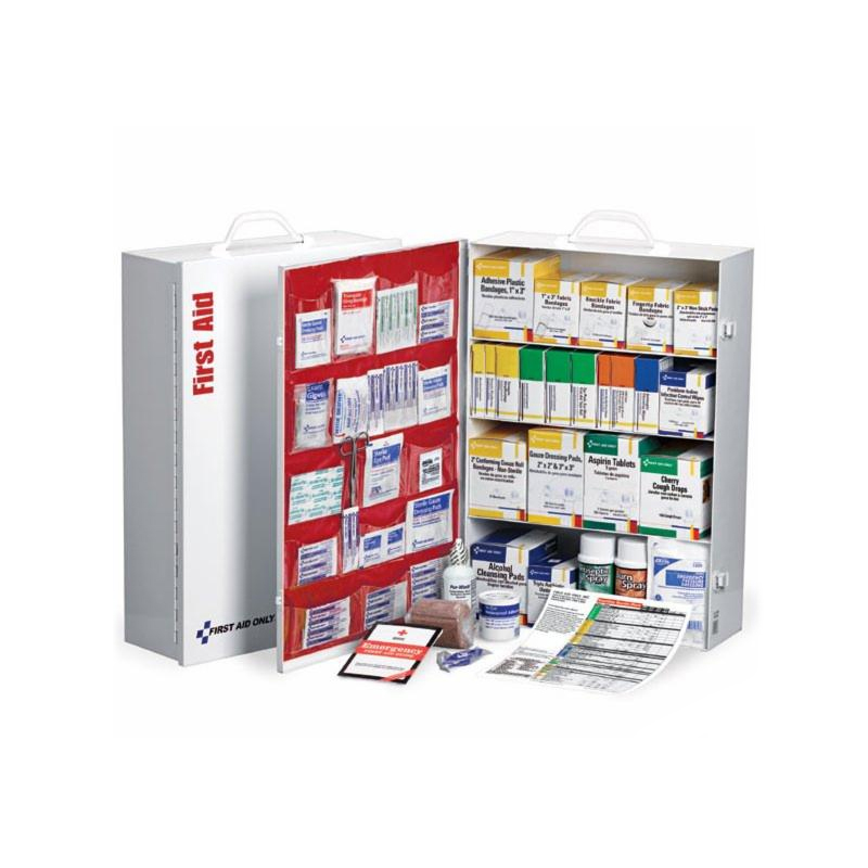 First Aid Only® 150 Person 4 Shelf Industrial First Aid Station w/Pocket Liner image