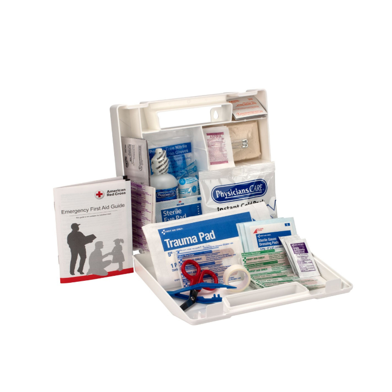First Aid Only® 25 Person First Aid Kit, Plastic Case w/Dividers image