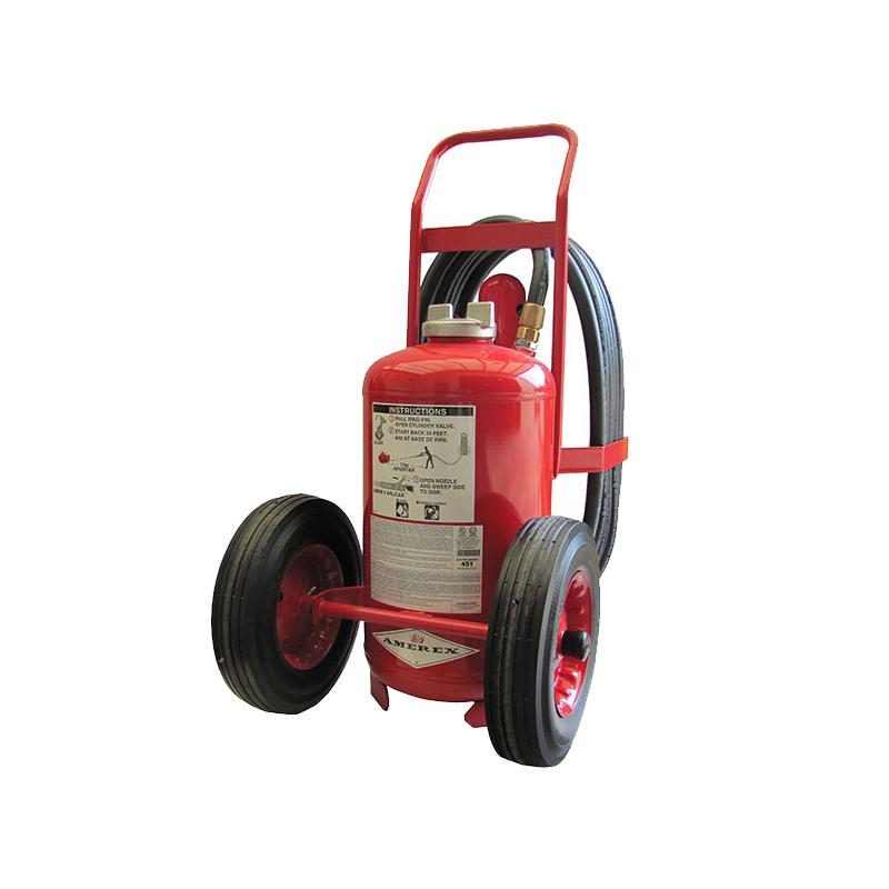 Amerex Wheeled Extinguisher CO2 125lb, Model 452 image