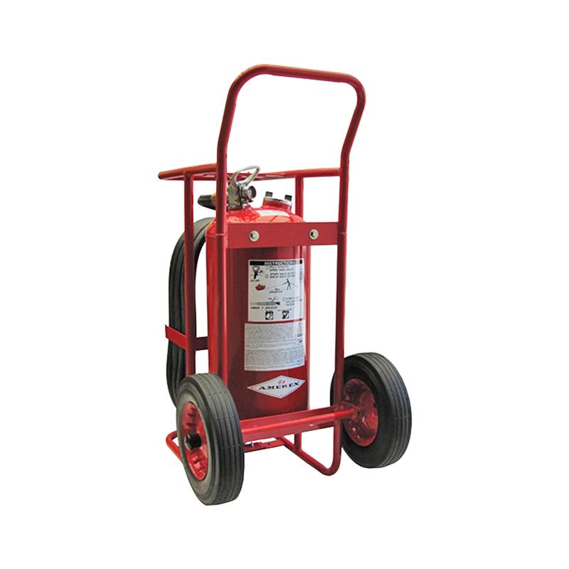 Amerex Wheeled Extinguisher Dry Chemical Stored Pressure 125lb, Model 490 image
