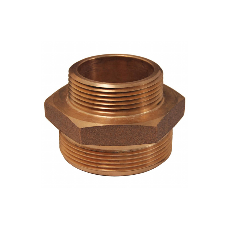 Double Male Hex Nipple, Brass image