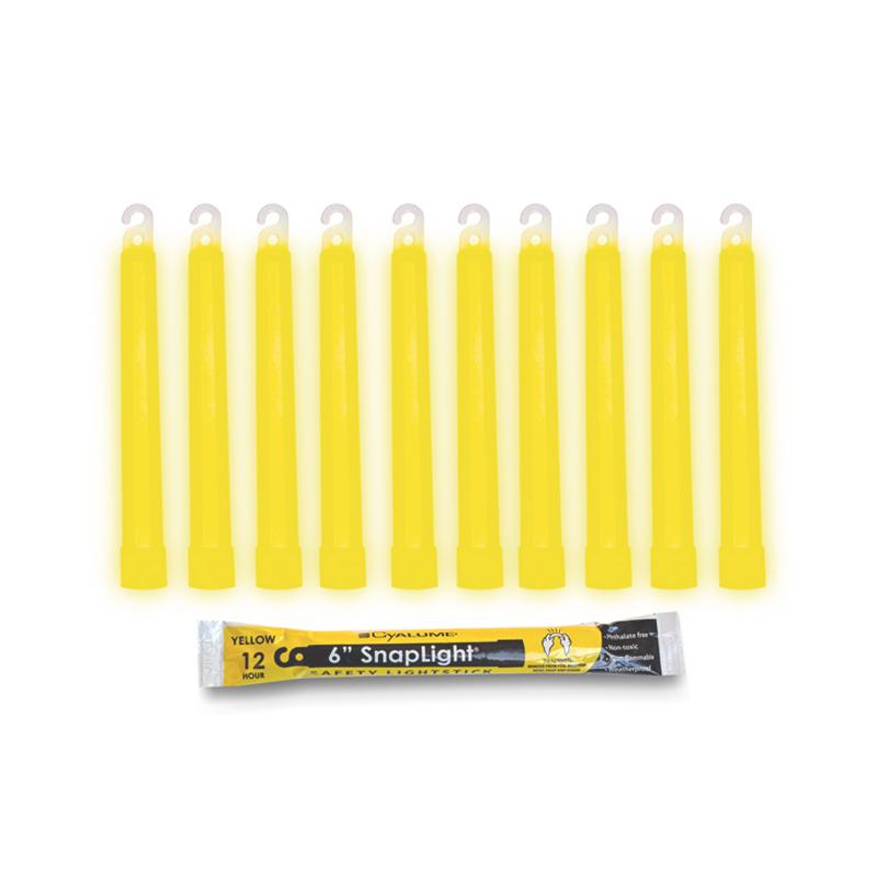 Cyalume Light Stick,12 Hours, Yellow 6'' image