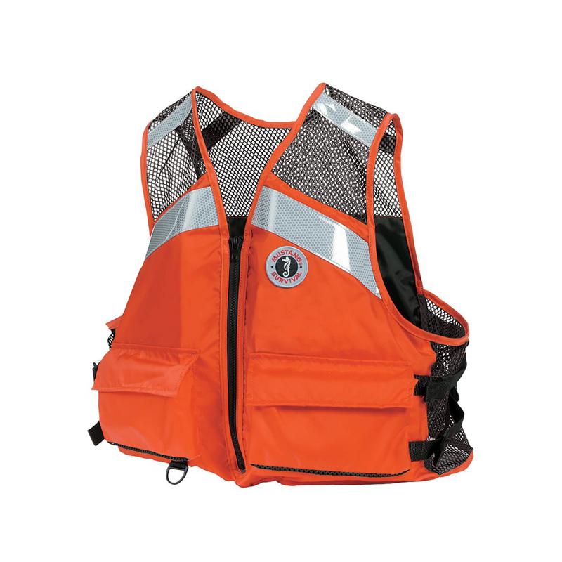 """Mustang Work Vest, """"Industrial Mesh"""" W/ Reflective Tape USCG Type III"" image"