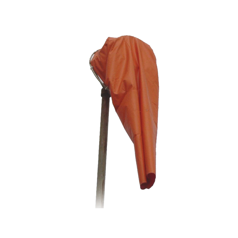 "Wind Sock 18"" WINDSOCKS - ORANGE (18"" DIA X 60""L X 9"" DIA), 12 OZ PAK CLOTH - NYLON, 16 BRASS GROMMETS image"
