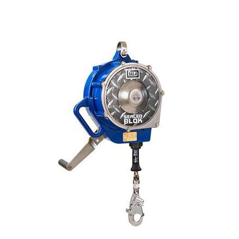 3M DBI-SALA Sealed-Blok Self Retracting Lifeline, 85', 3/16'' SS Cable, Swivel Snap Hook, Blue image